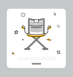Producer chair icon on white vector