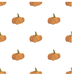pumpkin triangle seamless pattern background vector image