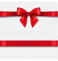 Red bow isolated transparent background vector