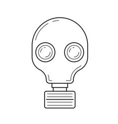 respirator line icon vector image