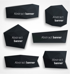 Set of abstract black banners modern style design vector image vector image