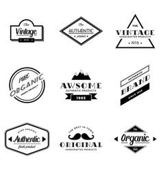 set vintage badge logo vector image