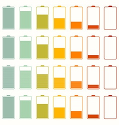 Simple Battery Life Icon Set Set Isolated on White vector