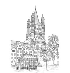 Sketch of the cathedral of st martin vector