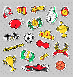 sports winner badges patches and stickers vector image