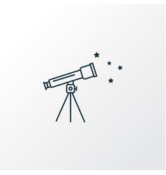 telescope icon line symbol premium quality vector image