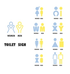 Toilet or restroom logo design vector