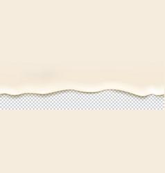 Top flowing yogurt seamless border vector