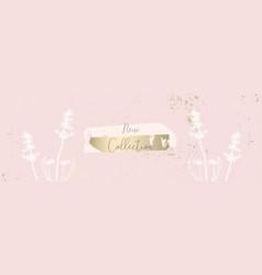 trendy pink gold floral lavender pastel vintage vector image