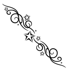 tribal flower stars tattoo style vector image