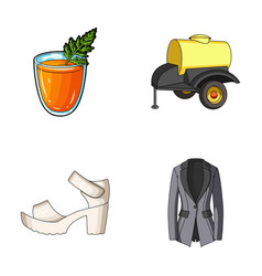 Vegetarianism shoes and other web icon in cartoon vector