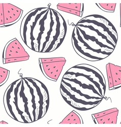 Watermelon stylized seamless pattern vector