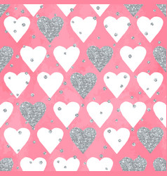 Wedding aquarelle pink seamless pattern with vector
