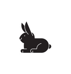 white rabbit black concept icon white vector image