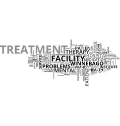Winnebago mental health institute text word cloud vector