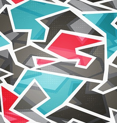 abstract technology mosaic seamless pattern vector image