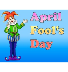 An of a jester April Fools Day vector image