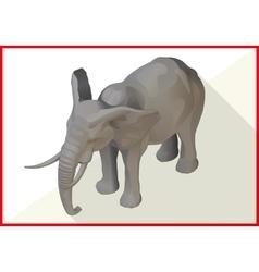 Elephant isometric flat 3d vector image