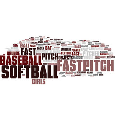fastpitch word cloud concept vector image