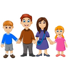 happy family cartoon for you design vector image vector image