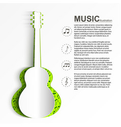 musical abstract template vector image
