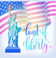 poster to 4th july usa independence day banner vector image
