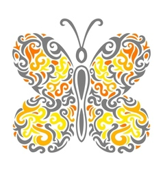 Abstract Mehndi butterfly - vector image vector image