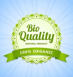 Bio Quality label vector image vector image