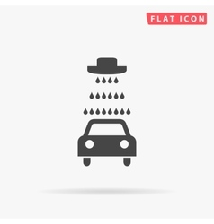 Car wash simple flat icon vector image