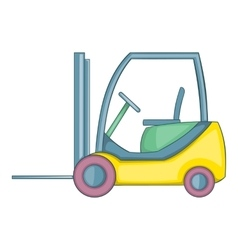Forklift loader icon cartoon style vector image