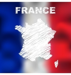 French Abstract Map vector image