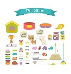 Pet shop icon set vector image