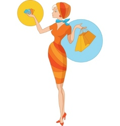 summer shopping vector image vector image