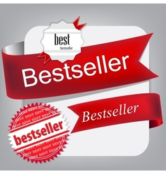Bestseller red banners vector