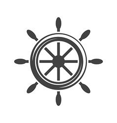 Ship steering wheelhelm Black icon logo element vector image
