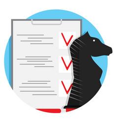 Strategy checklist icon vector