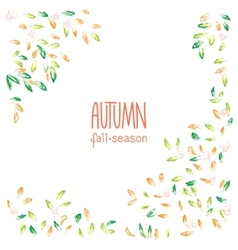 Autumn hand drawn background vector image vector image