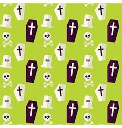Flat Seamless Death Halloween Pattern vector image vector image
