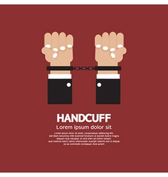 Handcuff vector image vector image
