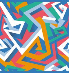 isometric geometric seamless pattern vector image vector image