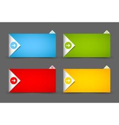 Notification window template vector image