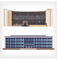 Set of two of modern buildings vector image vector image
