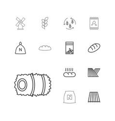 13 grain icons vector