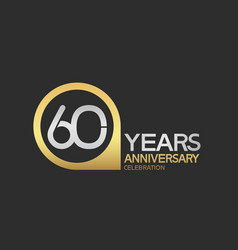 60 years anniversary celebration simple design vector