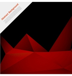 abstract background Polygon red and black vector image