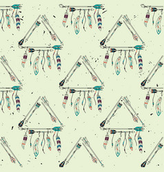 abstract grunge seamless pattern with tribal vector image
