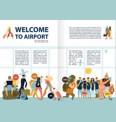 air travel infographics vector image