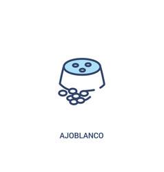 Ajoblanco concept 2 colored icon simple line vector