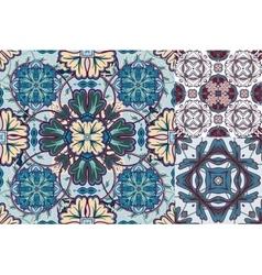 Art vintage set of damask pattern vector