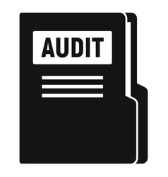 Audit company folder icon simple style vector
